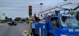 Perbaikan Traffic Light Jalan A. Yani Irian