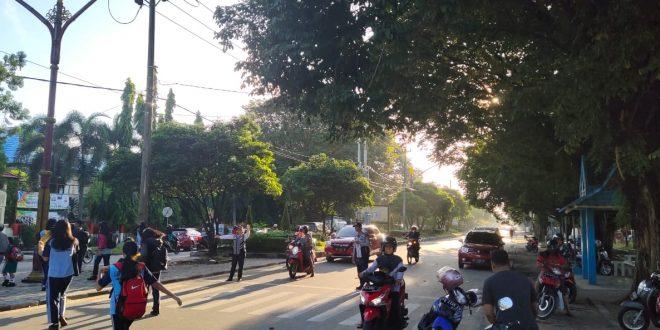 Pengaturan Lalu Lintas SMPN 2 Palangkaraya Jl.Diponegoro